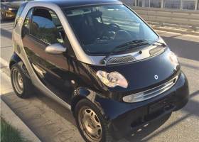 Smart ForTwo viti 2007, Black, 0.8L, 100000km